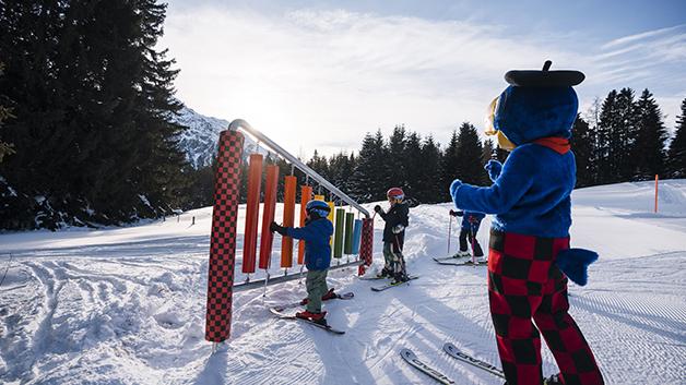 Kindervergnügen am Berg auf Seite Lenzerheide