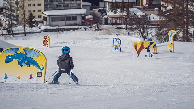 Skifahren lernen am Bolgen
