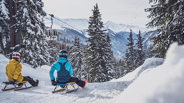 Schlittelabenteuer in Davos